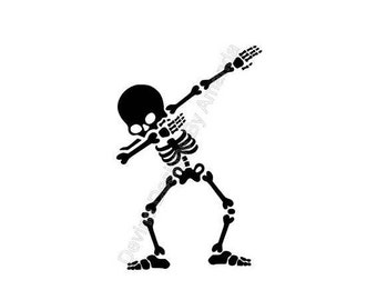 Dabbing Skeleton SVG FILE
