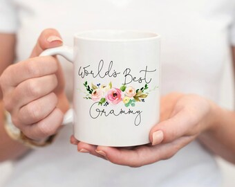 Worlds Best Grammy, Grammy Mug, Gifts for Grammy, Grammy Coffee Mug, Grandmother Gift, Coffee Mug, Nana Mug, best grammy ever, nana gift