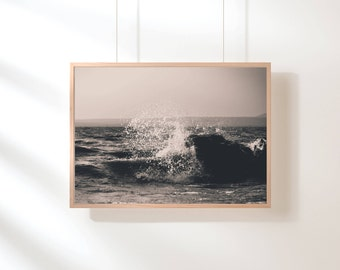 Ocean Waves Print, Ocean Water, Ocean Waves Beach Coastal Wall Decor, Beach Art, Printable Poster, Digital Print, Digital Download, Water