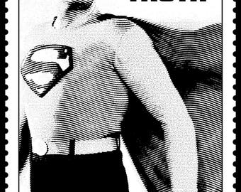 Remarkable SUPERMAN Signed & Numbered Limited Edition Print! George Reeve! DC Comics collectible!