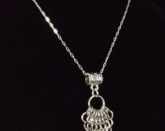 Stainless Steel Chainmaille Pendant
