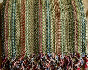 Buldan Handwoven Turkish Cotton Blanket / Throw
