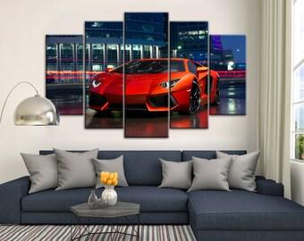 Lamborghini Aventador, Sport car print, Lamborghini poster, Lamborghini print, Lamborghpini wall art, Sport car poster, Supercar print