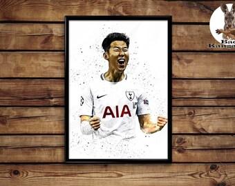 Heung-Min Son Print  wall art home decor poster