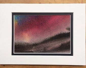 DARKENING  -- Nature's Moods: Original Landscape Watercolor Paintings - by Kathie Young