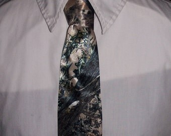 Camouflage Satin Neck Tie for kids and teens