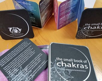 the small book of chakras, an accordion book for meditation and affirmation