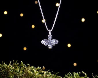 Sterling Silver Honey Bee - (Charm, Necklace, or Earrings)