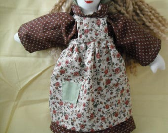 Cloth Doll / Fabric Doll / Rag Doll / Doll / Country Doll / Toys / Childrens Gifts / Doll with Yarn hair