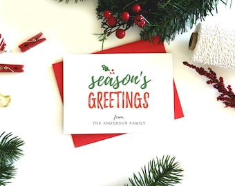 Personalized Christmas Cards - (Set of 5) Custom Christmas Cards, Christmas Card Set, Christmas Card, Holiday Card, Xmas Card, Personalised