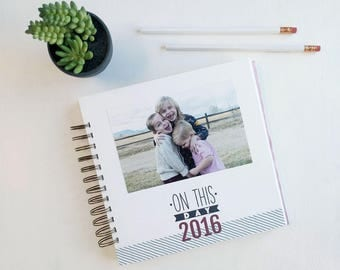"2018 ""On This Day"" Calendar. 2018 Personalized Album. 2018 Scrapbook. 2018 Diary. 2018 Journal. 2018 Journal Calendar."