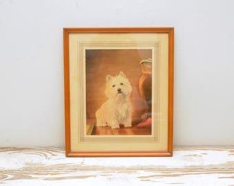 Vintage West Highland Terrier Dog Print