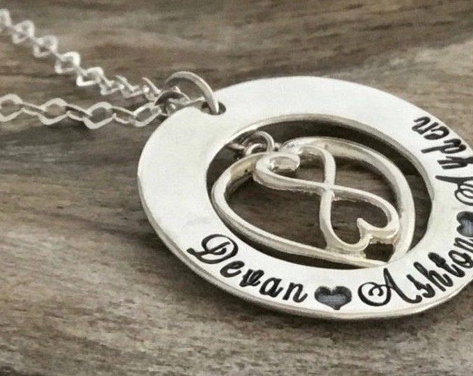 Infinity heart necklace names    Custom infinity necklace   Infinity necklace name   Infinite necklace   Infinity heart necklace