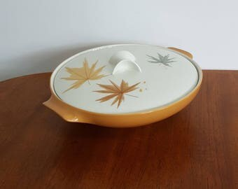 Large Iroquois Harvest Time Casserole Serving Bowl W/ Lid