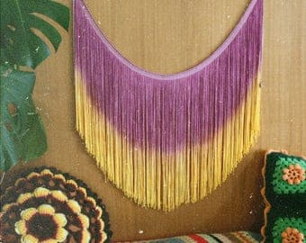 Retro Home - Vintage-Inspired Wall Hanging, Vintage Tapestry, SALE