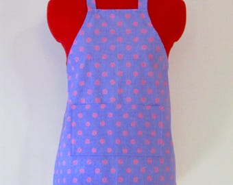 Kids Apron - Polka Dots Childrens Apron - Childs Apron - Kitchen Accessory