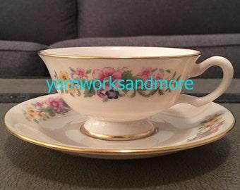 Lenox Avon Cup & Saucer, Lenox Tea Cup And Saucer, Avon Cup And Saucer, Tea Party, Vintage 1950s