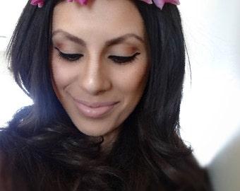 Pink Floral Crown, Flower Crown, Pink Flower Crown, Flower Headband