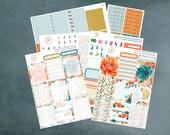 Watercolor Autumn, Planner Sticker Kit Erin Condren, Planner Stickers, Weekly Kit, Fall Stickers, Erin Condren Planner Stickers, ECLP, WK-12
