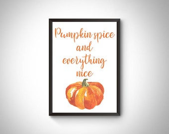 Fall printable, fall decor, fall sign, autumn printable,fall print, thanksgiving print, fall wall art, fall digital print, pumpkin printable
