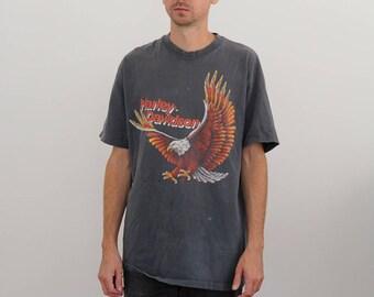 Harley Davidson 80s Faded Eagle Shirt Large