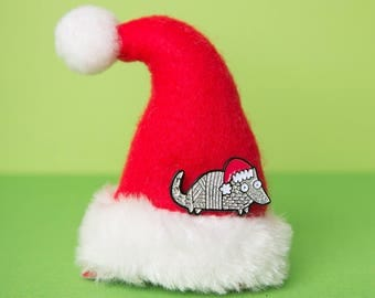 Holiday Armadillo Ltd Edition!- Soft Enamel Pin - Christmas pin - Holiday pin - Animal badge
