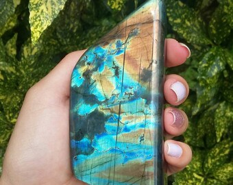 Blue Labradorite Freeform, Blue & Orange Labradorite Freeform, Blue Labradorite Freeform, Polished Labradorite Freeform, Flashy Labradorite