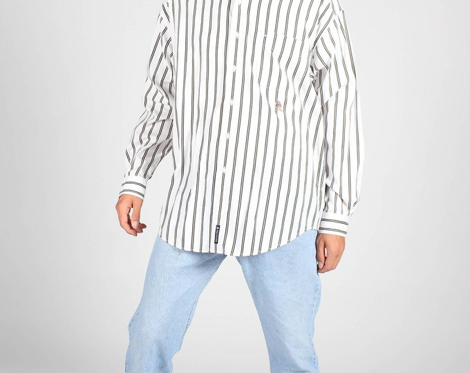 White Stripe Tommy Hilfiger Shirt