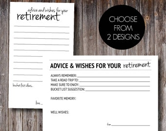 Retirement Advice and Wishes Cards