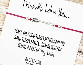 Friendship Bracelet | Best Friend Bracelet | Friend Thank You Card | Gift for Best Friend | BFF Bracelet | Friendship Card | Thank You Gift