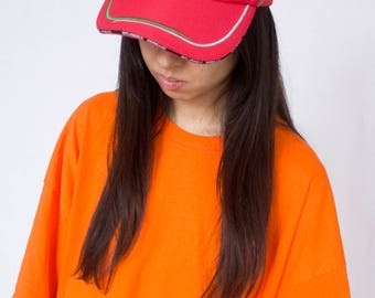 RED FERRARI CAP -90s, scuderia, cyber, vaporwave, club kid, f1, unisex, baseball, hat, sportswear, aesthetic-
