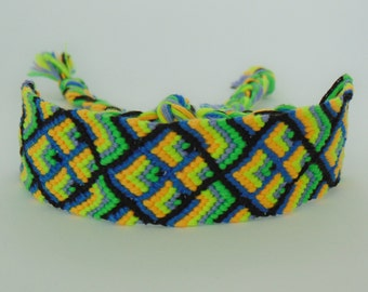 Arrows & Diamonds Friendship Bracelet// Woven Bracelet// Handmade