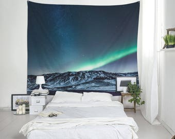 Astronomy Tapestry, Aurora Borealis Wall Decoration, Tapestry Wall Hangings, Unique Tapestries, Tapestry Wall Decor, Wall Blankets