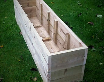 20% SALE - Extra Large Wooden Planters / Raised Beds - from 100cm to 150cm Long x 30cm High x 34cm Wide. Fully Assembled. Fast Delivery.
