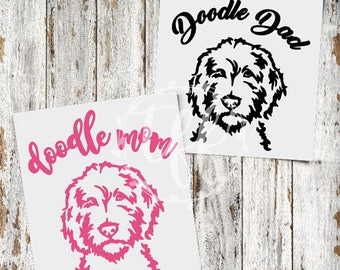 Doodle Mom Decal | Doodle Dad Decal | Goldendoodle & Labradoodle Decal | Goldendoodle Mom | Goldendoodle Dad | Goldendoodle Sticker | Yeti