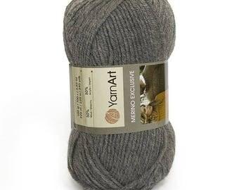 Wool and acrylic yarn MERINO EXCLUSIVE YARNART, winter yarn, many yarns, yarn palette