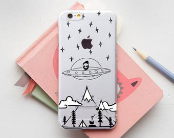UFO Case iPhone 8 Case Gift iPhone 8 Plus Case iPhone 7 Case iPhone 7 Plus Cover iPhone 6 Case iPhone 6S Plus Samsung S8 Galaxy S7 PP1380