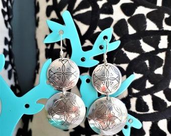 Berber earrings - silver piece - handmade