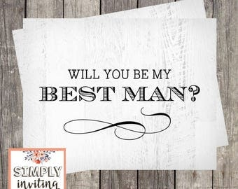 Will You Be My Best Man, Card For Best Man, Best Man Proposal Card, Best Man Request Card, Printed Wedding Card Best Man, Rustic Wedding