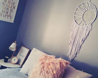 Boho dreamcatcher, dreamcatcher, wall hanging, boho decor, gypsy decor, dream catcher,modern, wall hanging, boho wedding