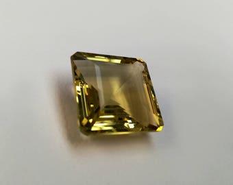 Faceted Lemon Quartz square cut 37ct ST0048CI
