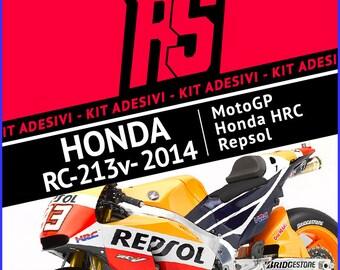 Stickers Kit Honda RCV 213 REPSOL Team Honda MotoGP 2014-Marc Marquez decals