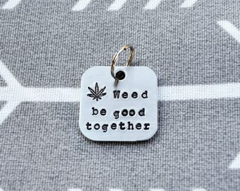 Cannabis Keychain - Funny Gift -  Valentine's Day Gift - Funny Key chain - Marijuana - Cannabis  - Weed - Cannabis Accessories
