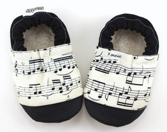 music note baby shoes sheet music clothing baby booties musical baby shoes baby booties black and white soft sole shoes piano baby music
