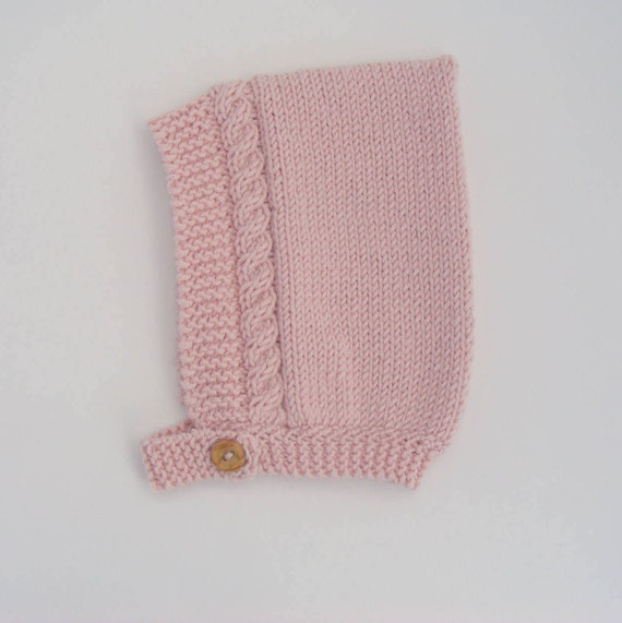 Baby Girl's Cable Knit Pixie Hat in Pink