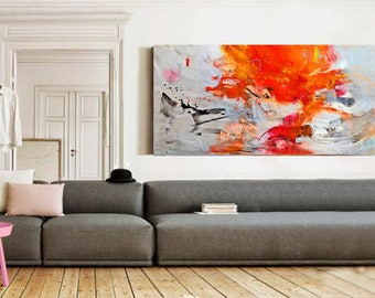 Original abstract acrylic painting, Giclee Print on Canvas, Large wall art canvas, Modern Art Abstract Painting, Acrylic painting on Canvas