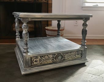 Farmhouse Coffee Table, Rustic Table, French Country Table, Cottage  Furniture,
