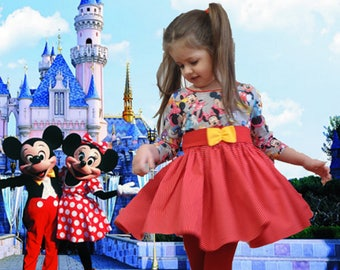 Mickey Mouse•Girl Dress•Size 4T•Red Dress•Baby Dress•Dress Long Sleeve•Polka Dot Girl Dress•Twirly Dress•Girls' Clothing•Birthday Dress