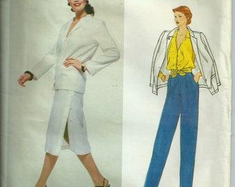 Vintage Vogue 2143 Kasper Size 16 Jacket, Skirt, Pants & Blouse 1980s Pattern Uncut