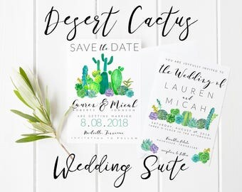 Wedding Invitation, Cactus Wedding, Cactus Invitation, Printable Invitation, Desert Wedding, Cactus, Wedding Invitations, Invitation,